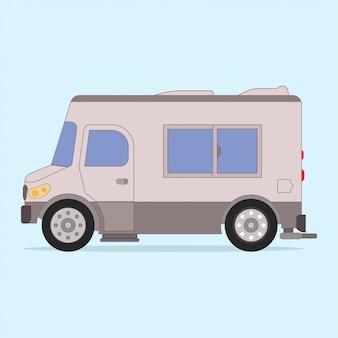 Illustrazione di camion grigio