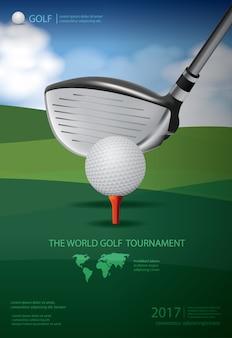 Illustrazione di campionato golf poster