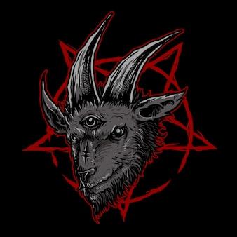 Illustrazione di capra scura