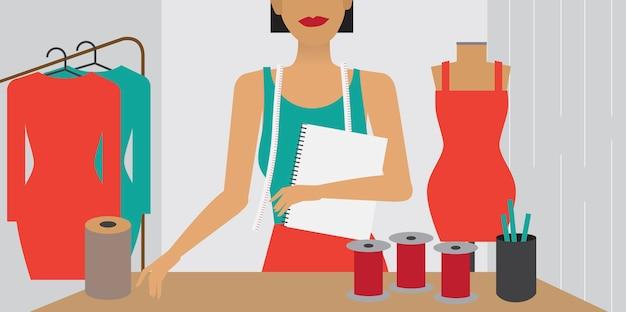 Illustrazione di carattere dello stile di vita della donna