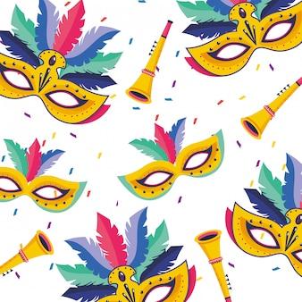 Illustrazione di carnevale del brasile