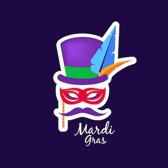 Illustrazione di carnevale di mardi gras