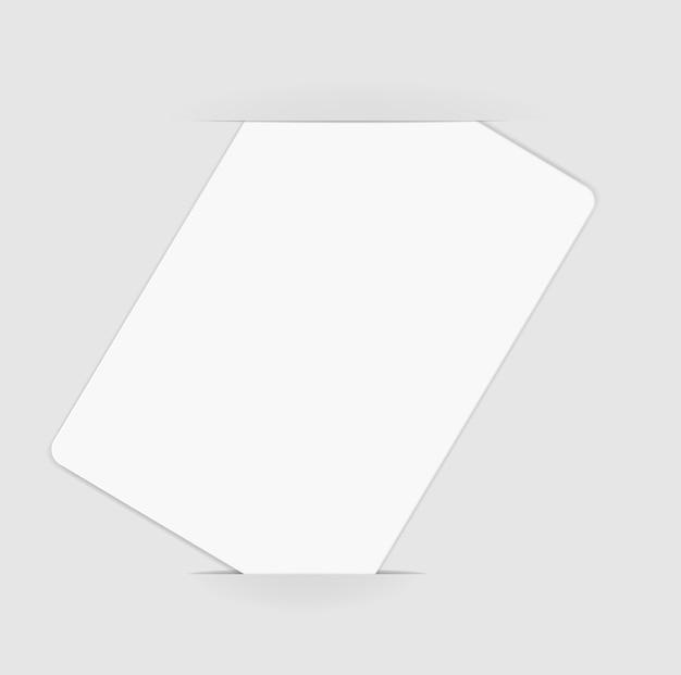 Illustrazione di carta bianca