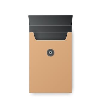 Illustrazione di carta scatola gialla