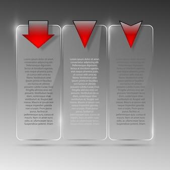 Illustrazione di cartellone di vetro