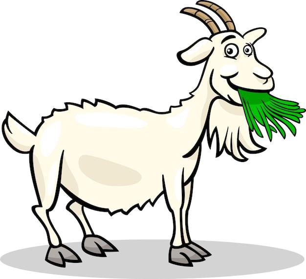 Illustrazione di cartone animato animale di capra fattoria