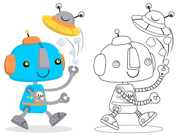 Illustrazione di cartone animato carino robot