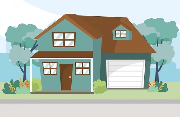 Illustrazione di cartone animato casa casa