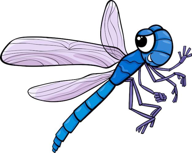 Illustrazione di cartone animato insetto libellula