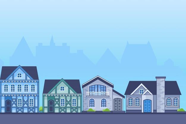 Illustrazione di casa europa