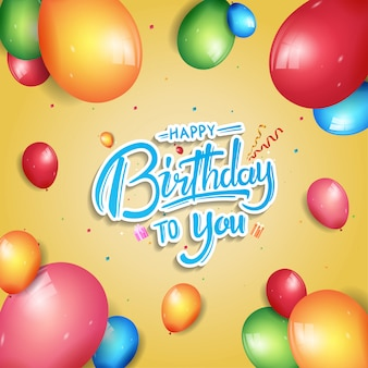 Illustrazione di celebrazione del manifesto di buon compleanno