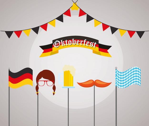 Illustrazione di celebrazione dell'oktoberfest, festival della birra
