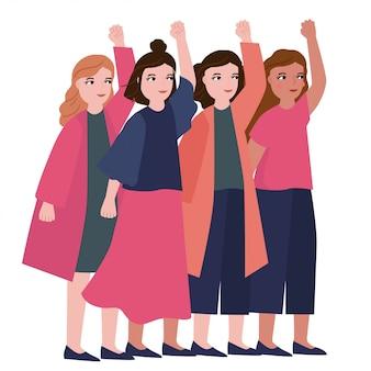 Illustrazione di celebrazione della giornata della donna felice