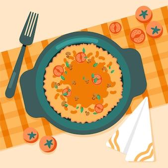 Illustrazione di cibo comfort design piatto