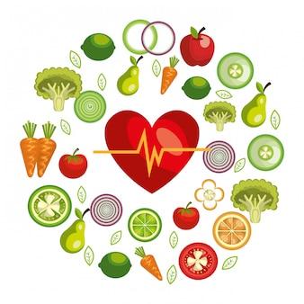 Illustrazione di cibo sano