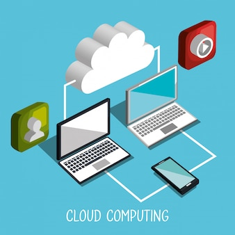 Illustrazione di cloud computing