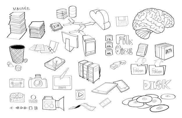 Illustrazione di cloud storage