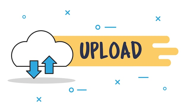 Illustrazione di cloud storage
