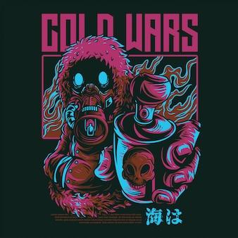 Illustrazione di cold wars