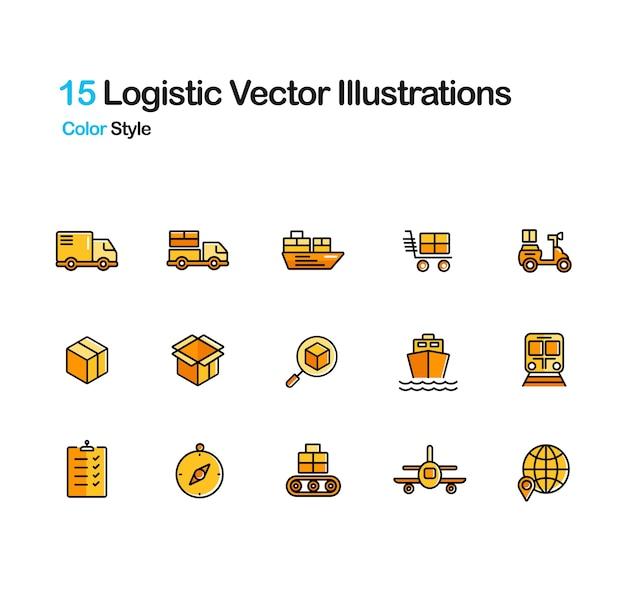 Illustrazione di colore lineare logistico
