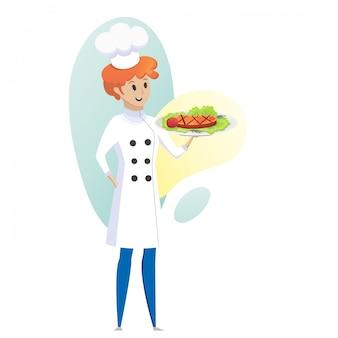 Illustrazione di concetto culinario affari del ristorante