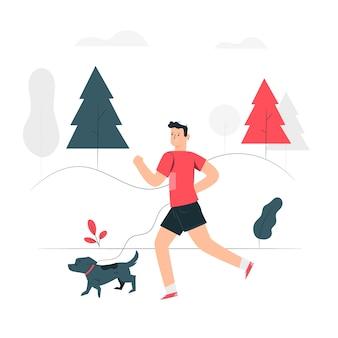 Illustrazione di concetto da jogging