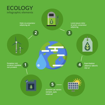 Illustrazione di concetto del modello di infographic di combustibile eco