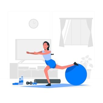 Illustrazione di concetto della palla di stabilità