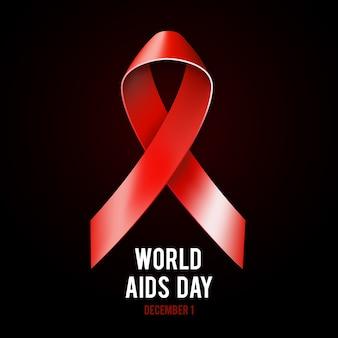 Illustrazione di concetto di 1 ° dicembre giornata mondiale contro l'aids