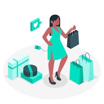Illustrazione di concetto di acquisto riuscito