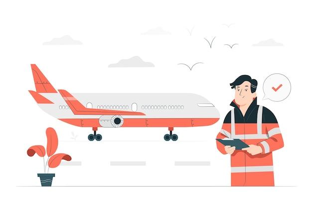 Illustrazione di concetto di aereo