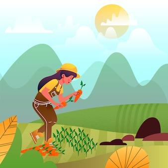 Illustrazione di concetto di agricoltura biologica