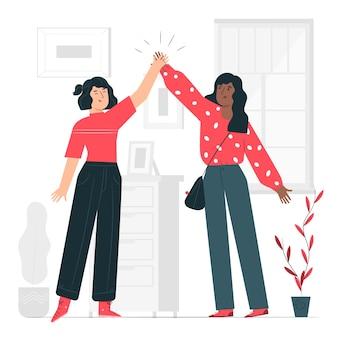 Illustrazione di concetto di amicizia