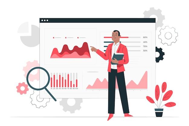 Illustrazione di concetto di analisi di installazione