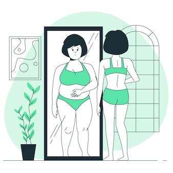 Illustrazione di concetto di anoressia