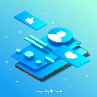 Illustrazione di concetto di app mobili