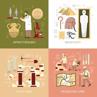 Illustrazione di concetto di archeologia