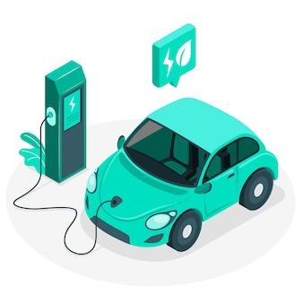 Illustrazione di concetto di auto elettrica