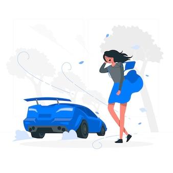 Illustrazione di concetto di auto veloce