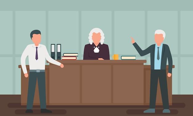 Illustrazione di concetto di avvocato, stile piano