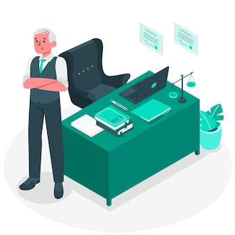 Illustrazione di concetto di avvocato