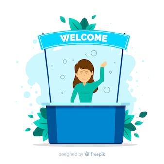 Illustrazione di concetto di benvenuto