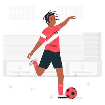 Illustrazione di concetto di calcio