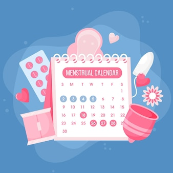 Illustrazione di concetto di calendario mestruale