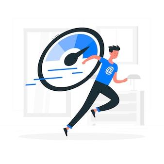 Illustrazione di concetto di caricamento veloce