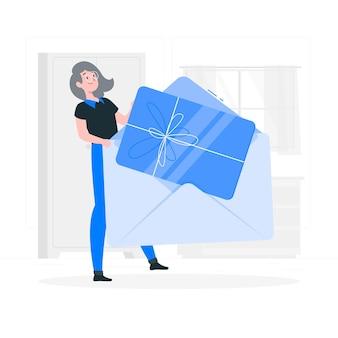 Illustrazione di concetto di carta regalo