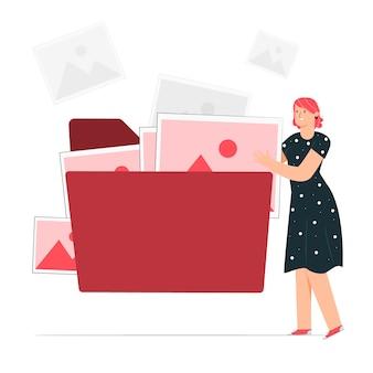 Illustrazione di concetto di cartella di file