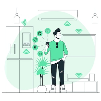 Illustrazione di concetto di casa intelligente
