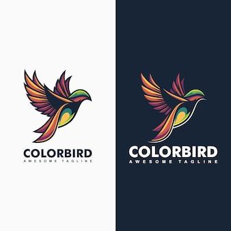 Illustrazione di concetto di colore-uccello