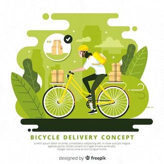 Illustrazione di concetto di consegna bici disegnata a mano